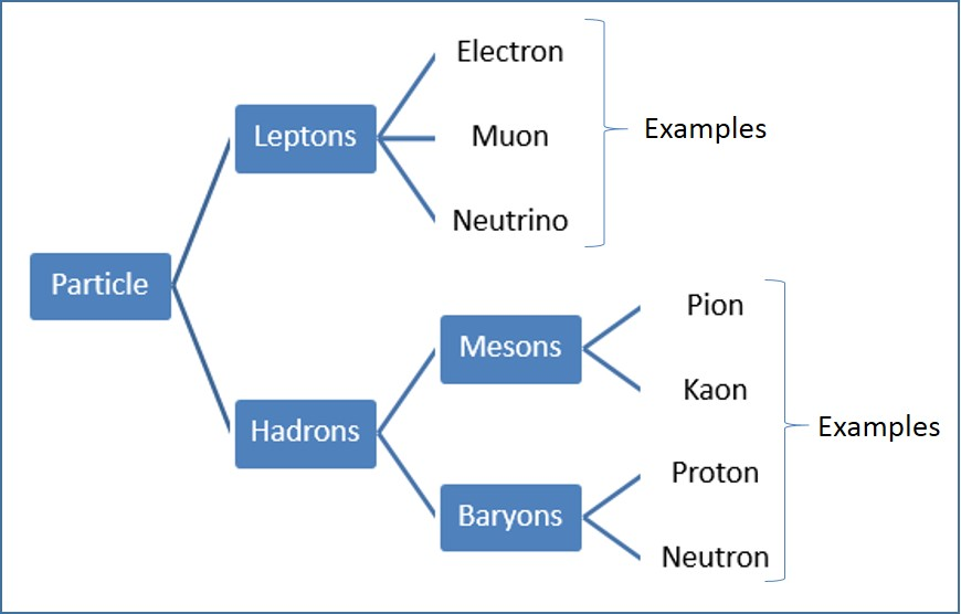 Classification Of Particles   Hadrons  Baryons  Mesons